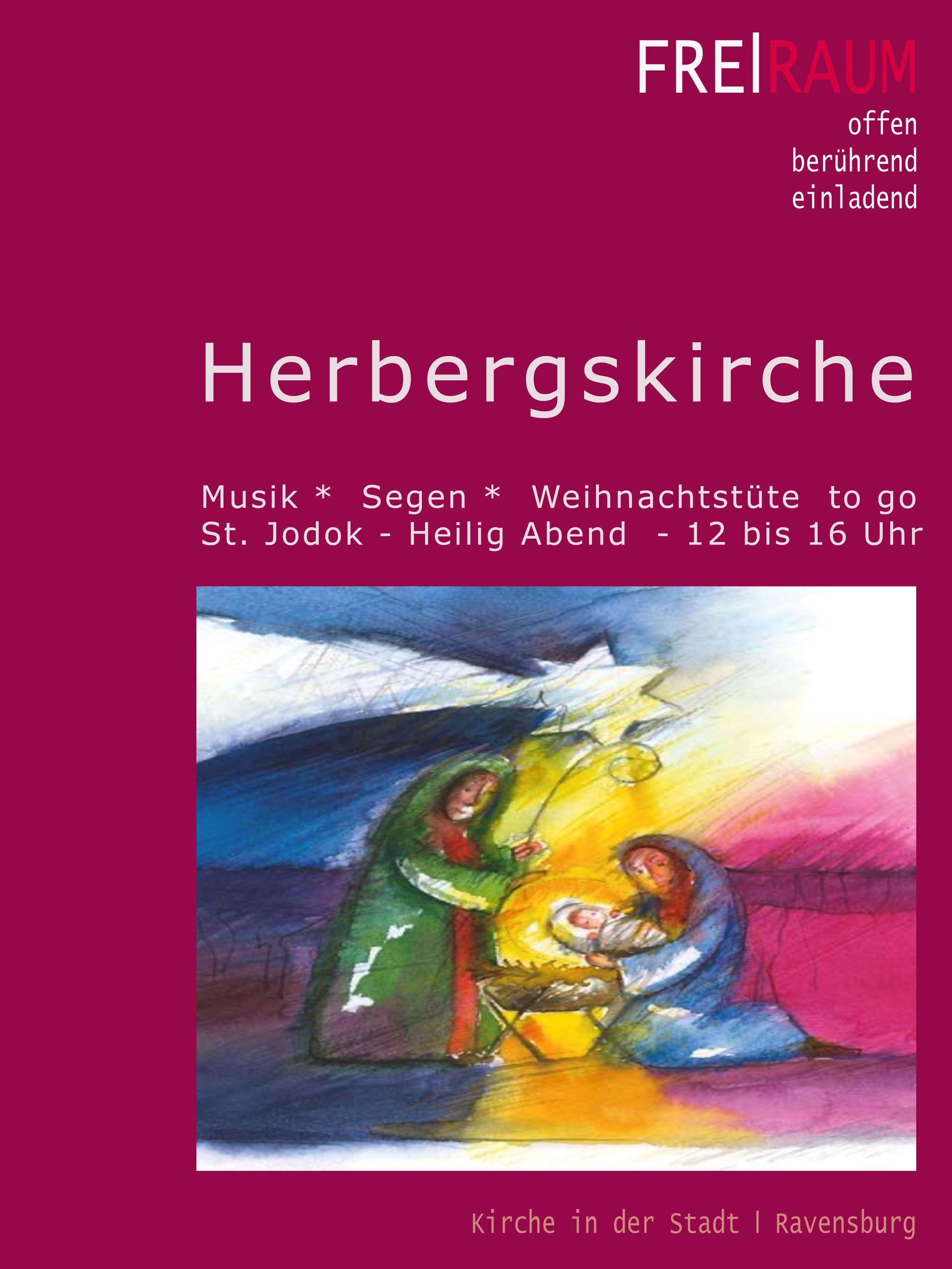 """Herbergskirche mit """"Imbiss to go"""" zum Weihnachtsfest"""