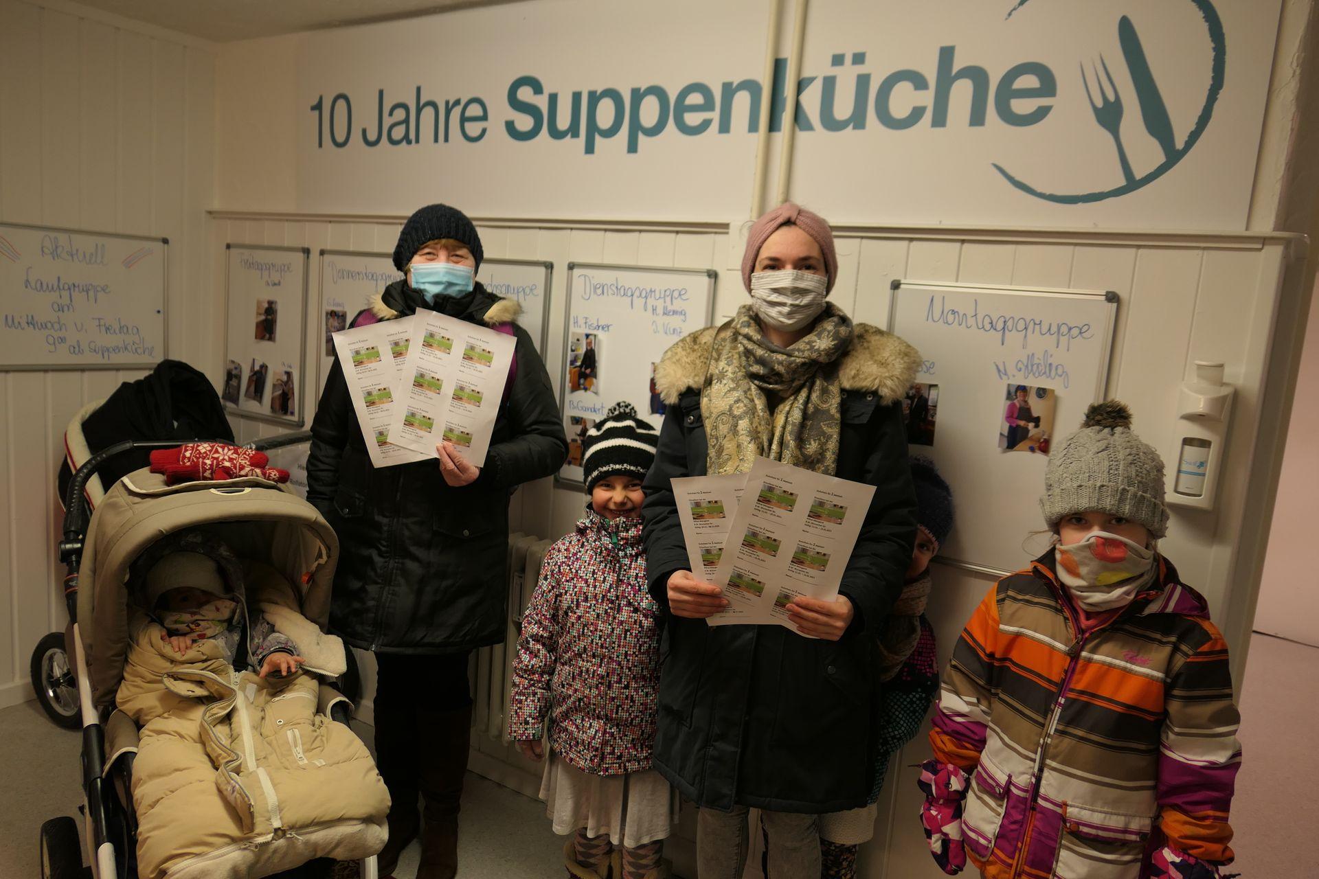 """Unterstützung für die Suppenküche """"Klosterstüble"""" zur Ausgabe von Essensgutscheinen"""