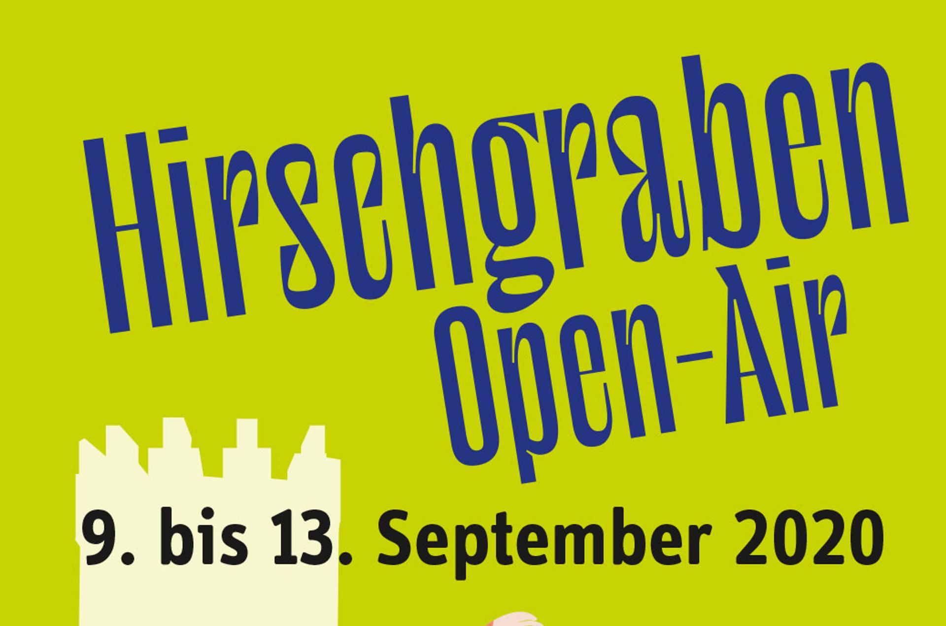 Hirschgraben Open-Air vom 9. bis 13. September 2020