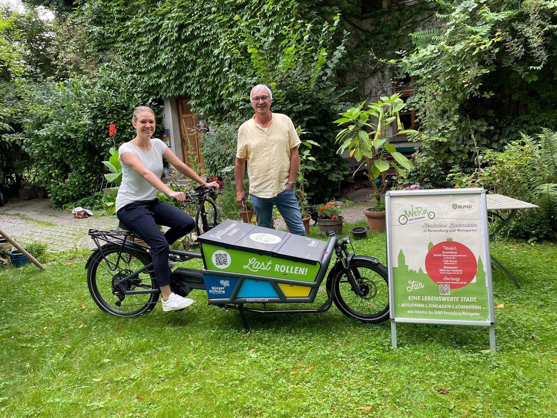 """Das Bürgerstiftungs-Lastenrad rollt im BUND """"WeRa-Projekt""""!"""